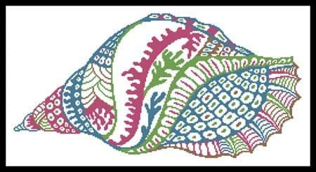 Abstract Shell Design by Artecy printed cross stitch chart